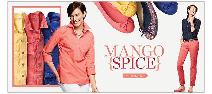 Mango Spice. Shop Now.
