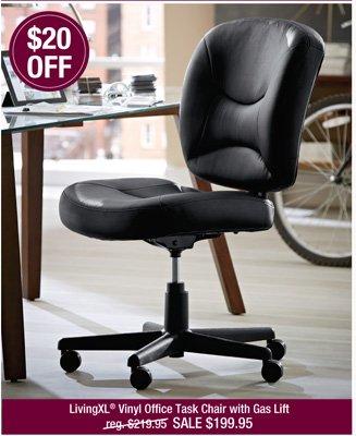 LivingXL® Vinyl Office Task Chair with Gas Lift