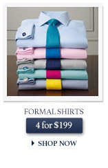 Formal Shirts - 4 for $199 - SHOP NOW
