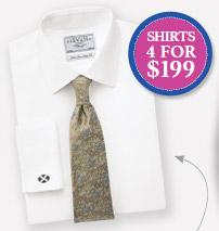 White Twill Shirt $69 - Shirts 4 for $199