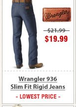 Wrangler 936 Slim Fit Rigid Jeans