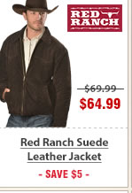 Red Ranch Suede Leather Jacket