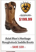 Ariat Mens Heritage Roughstock Saddle Boots