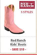 Kids Red Ranch Boots