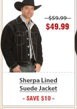 Sherpa Lined Suede Jacket