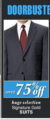 DOORBUSTER Signature Gold Suits - Over 75% Off*