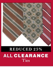 Clearance Ties - Reduced 25%