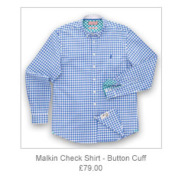 Malkin Check Shirt - Button Cuff