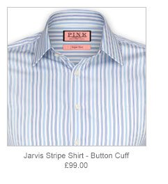 Jarvis Stripe Shirt - Button Cuff