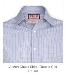 Vienna Check Shirt - Double Cuff