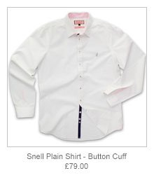 Snell Plain Shirt - Button cuff