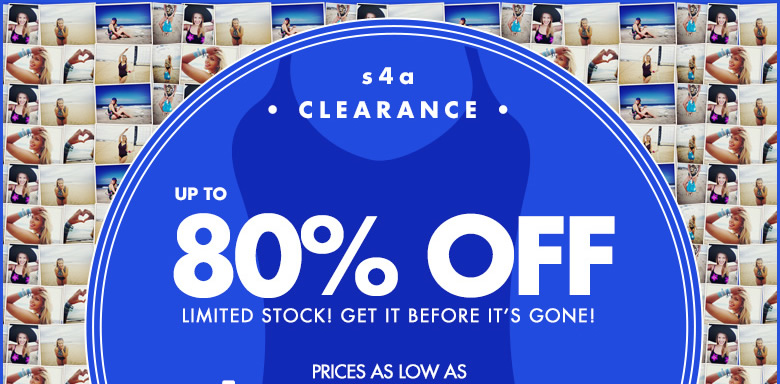 Clearance Save up to 80% OFF