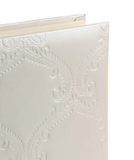 bonded leather damask traditional album
