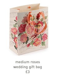 medium roses wedding gift bag