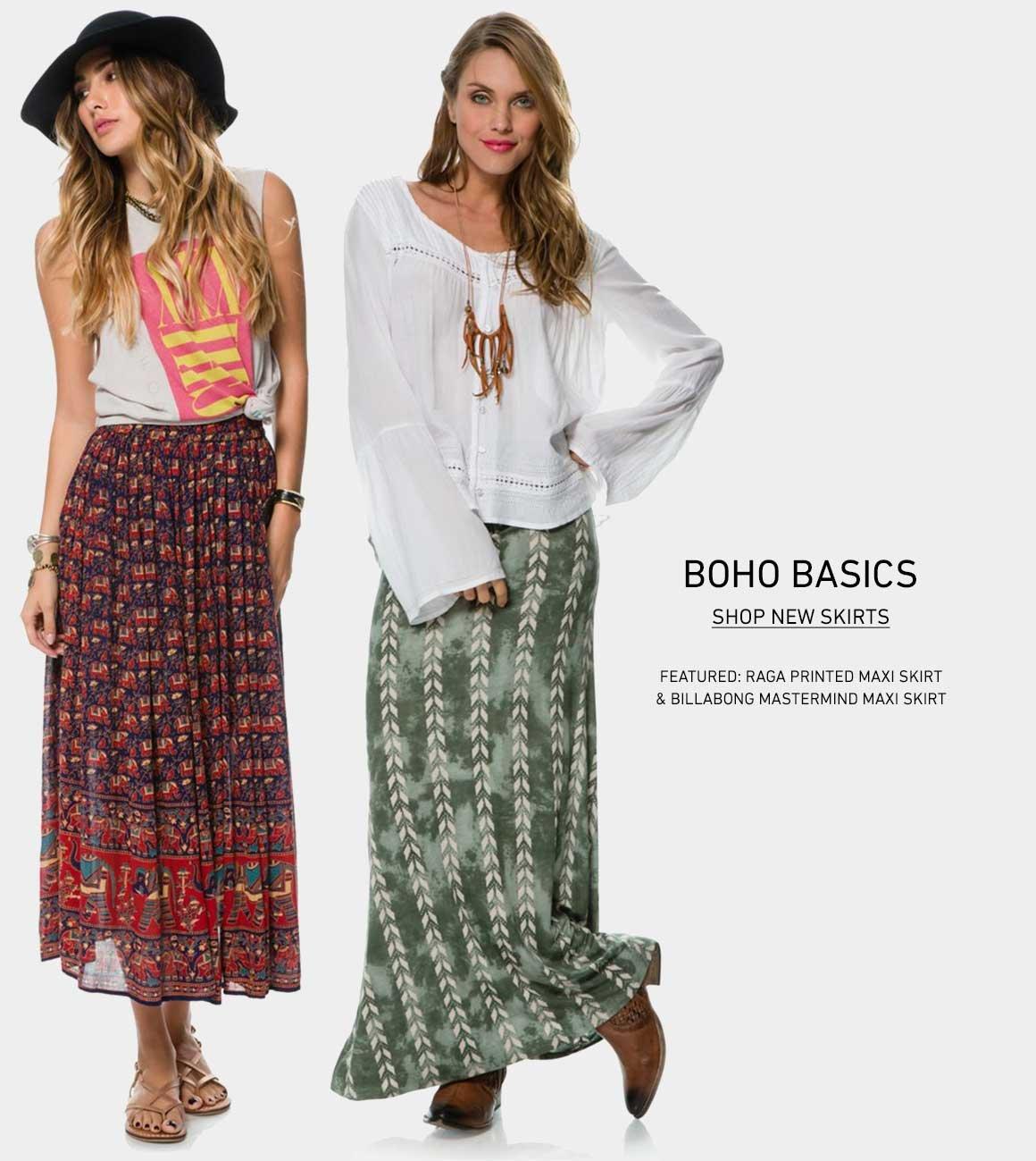 New Boho Skirts