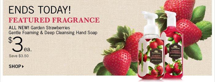 $3 Garden Strawberries Hand Soap