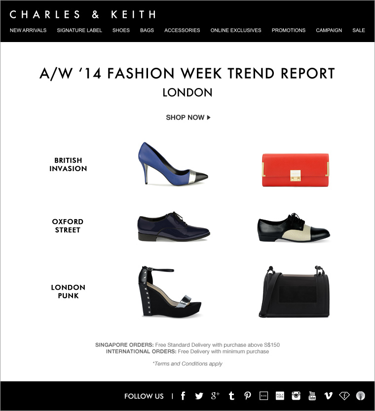 CHARLES & KEITH - London Fashion Week LFW Trend Report - Shoes and Bags