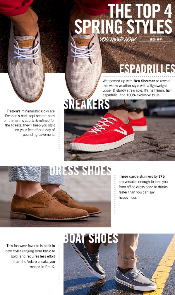 Shop The Spring Footwear Guide