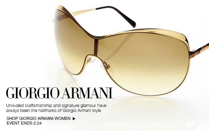 Shop Giorgio Armani Sunglasses - Ladies.
