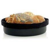 Plastic bread bowl, Black + 1 black bread bag