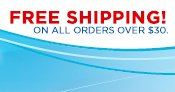 FREE SHIPPING! - ON ALL ORDERS OVER $30.