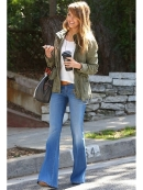 Level 99 Dahlia Flare Fit Jean in Bond as Seen On Jessica Alba