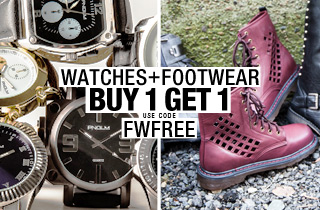 No Restrictions: Footwear & Watches BOGO