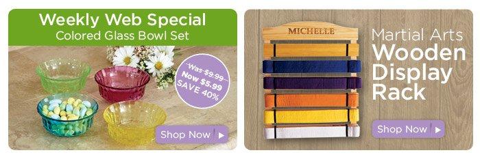 Weekly special & Martial Arts Belt Display Rack