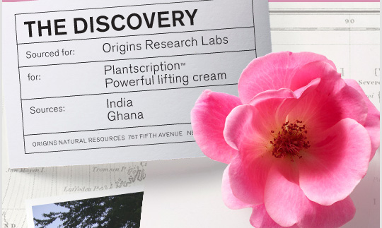 THE DISCOVERY Origins Reaserch Labs Plantscription Powerful lifting cream India Ghana