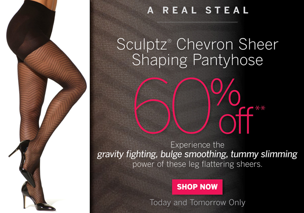 Sculptz Chevron Sheer Shaping Pantyhose are 60% off.