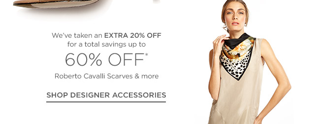 Up to 60% off Designer Accessories