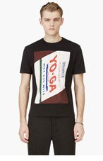 RAF SIMONS Black 'Yo-Ga' T-Shirt for men