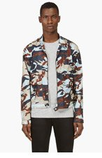 DSQUARED2 Blue & Brown Camo Print Windbreaker for men