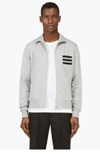 Y-3 Heather GREY ZIP UP TRACK Sweatshirt for men