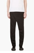 D.GNAK BY KANG.G Black Wrap-front Trousers for men