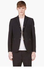 MONCLER GAMME BLEU NAVY WOOL Officer's BLAZER for men