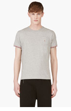 MONCLER Grey Logo Patch T-Shirt for men