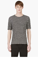 MCQ ALEXANDER MCQUEEN BLACK CROSS Knit T-SHIRT for men