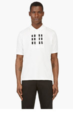 Y-3 White Slit & Stripe Polo for men