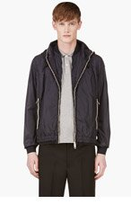 MONCLER Navy Hooded Double Layer Hugues Jacket for men