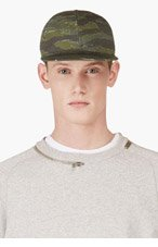 A.P.C. Green Camo Baseball Cap for men