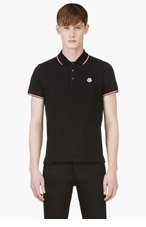 MONCLER Black Polo Shirt for men