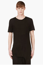 D.GNAK BY KANG.G Black Tank-Top Panel T-Shirt for men