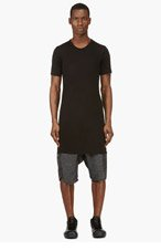 RICK OWENS Black overlong Classic t-shirt for men