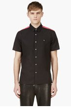 RAF SIMONS Black Contrasting Yoke Shirt for men