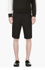 LANVIN Navy Cotton Shorts for men