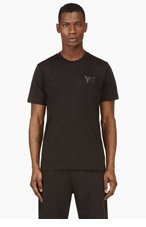 Y-3 Black tonal LOGO T-shirt for men