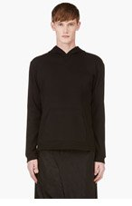 D.GNAK BY KANG.G Black Terry Panel Hoodie for men