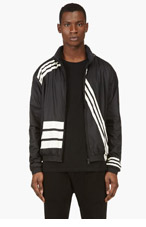Y-3 Black Striped Windbreaker for men