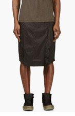 RICK OWENS Black Hybrid Sarouel Shorts for men